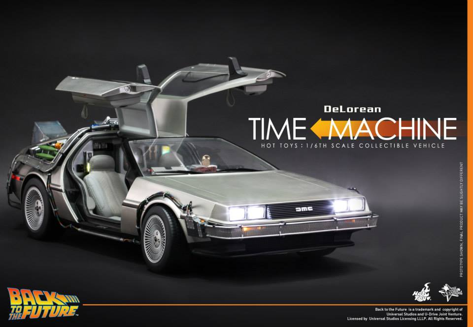 action figure insider hot toys back to the future 1 6th scale delorean time machine collectible. Black Bedroom Furniture Sets. Home Design Ideas