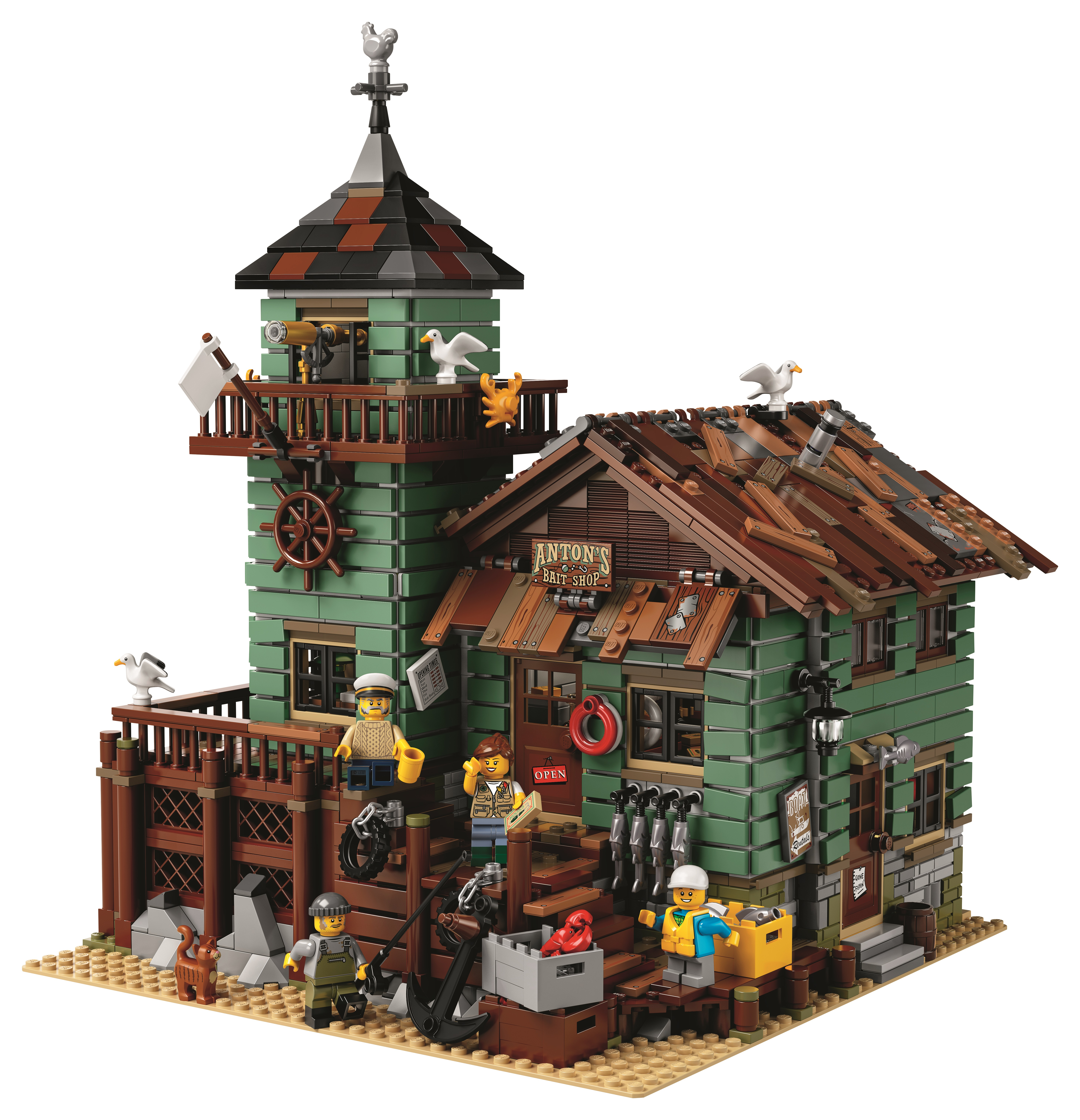 Action figure insider lego ideas announce old fishing for Lego ideas old fishing store