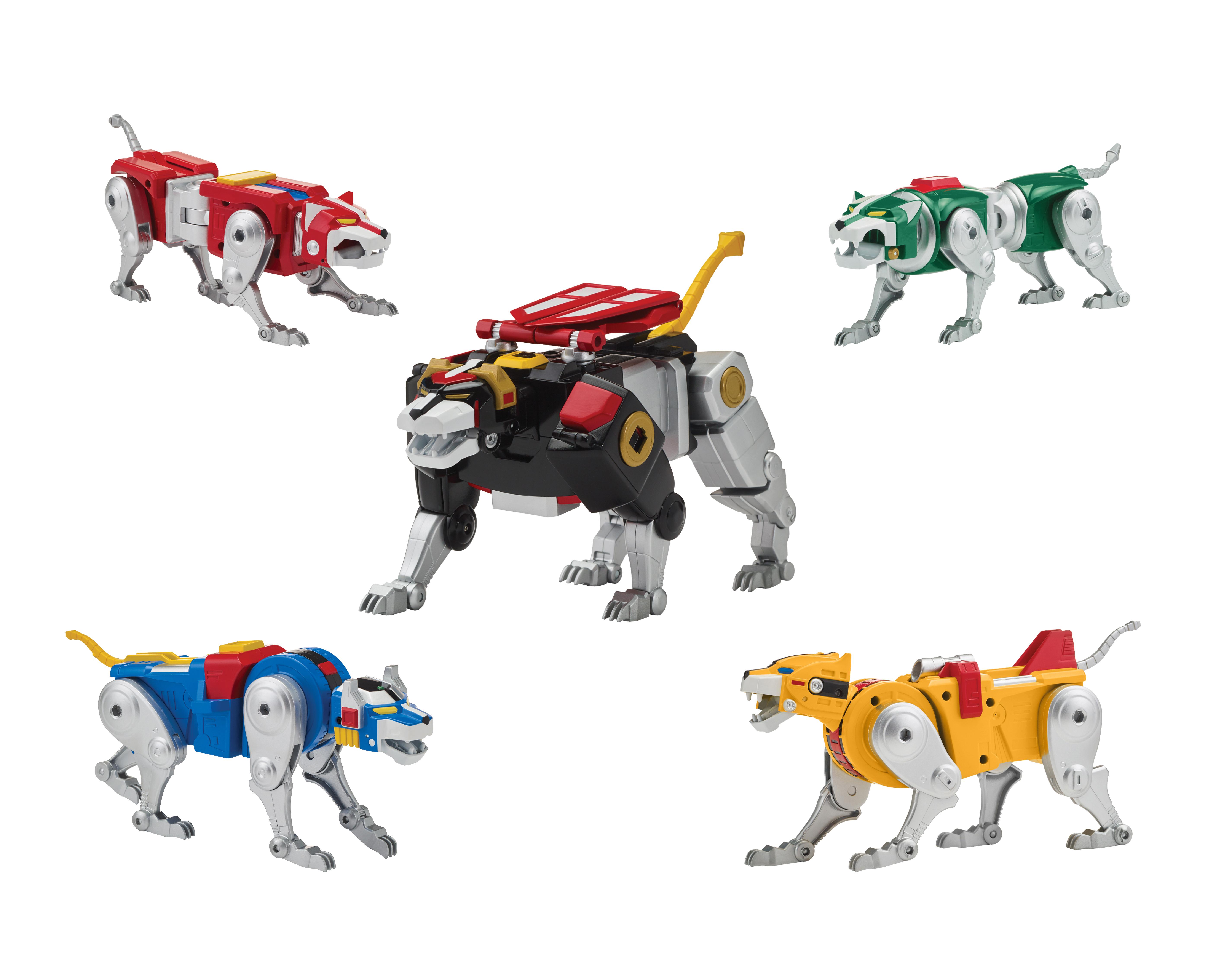 Voltron 84 Classic Legendary Lion Action Figure set of 5 Playmates