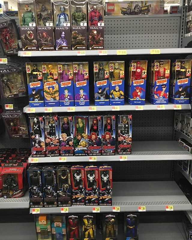 Walmart Toys Department : Action figure insider my local walmart nor has a