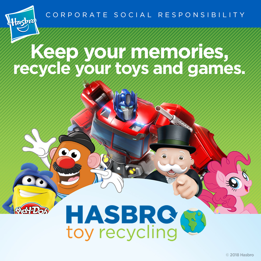 Toys For Games : Action figure insider hasbro announces toy recycling