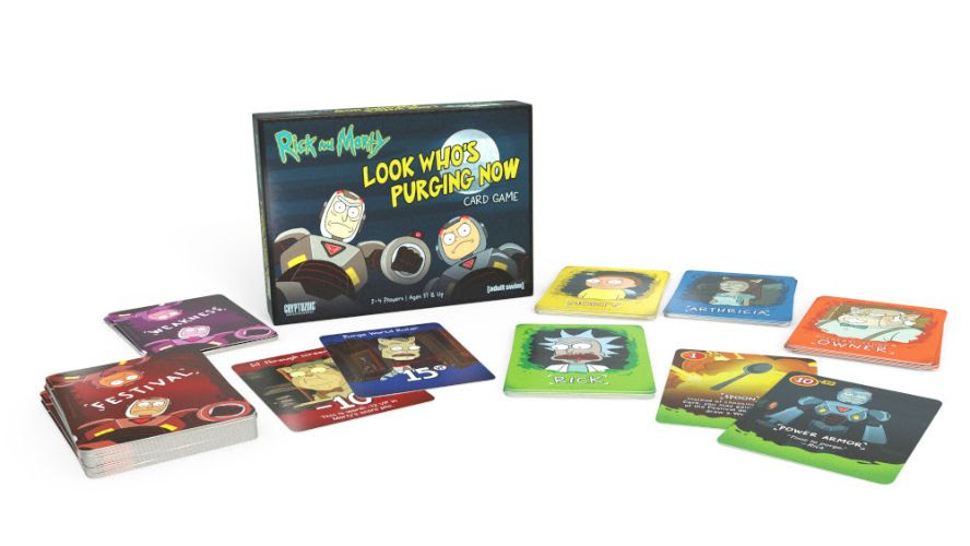 Cryptozoic and Cartoon Network Enterprises Announce Release of Rick and Morty: Look Who's Purging Now Card Game